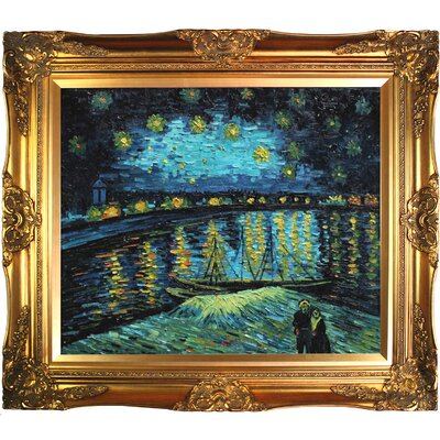 Tori Home Starry Night Over The Rhone Canvas Art