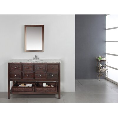 "Simpli Home 48"" Burnaby Bathroom Vanity"