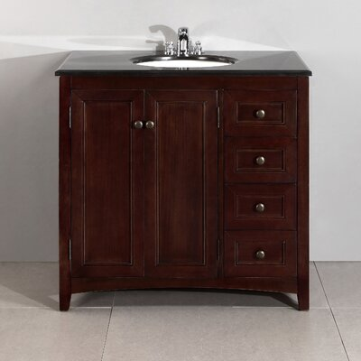 "Simpli Home Yorkville 36"" Single Bathroom Vanity Set"