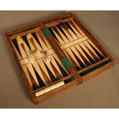 Chopra Wood Magnetic Folding Chess and Backgammon