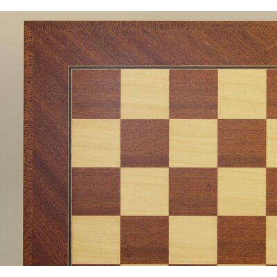 "Ferrer 20"" Veneer Chess Board in Mahogany / Maple with Inlaid Frame"