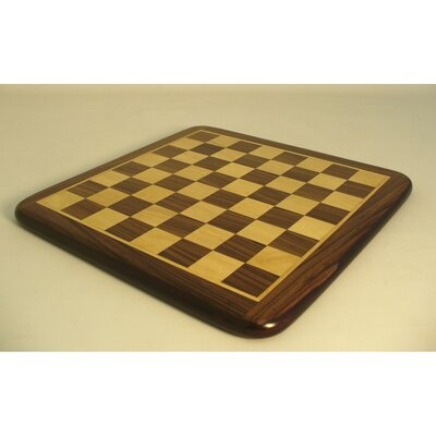 "Pleasantime 21"" Rosewood / Maple Thick Veneer Chess Board"