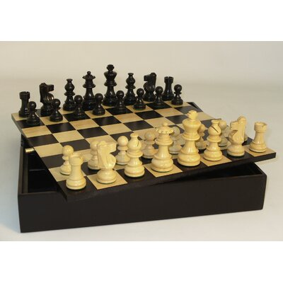 Small Ebony Lardy Chest Chess Set