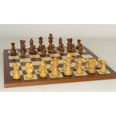 Small Sheesham French-Sapele Chess Set