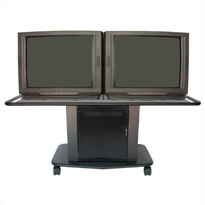 "Avteq Acero Series 32"" Tall Cart - Dual Platform (Optional Speaker Module Available)"