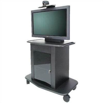 "Avteq Plana Series 42"" Tall Metal Plasma Cart - Holds a 42"" Screen"