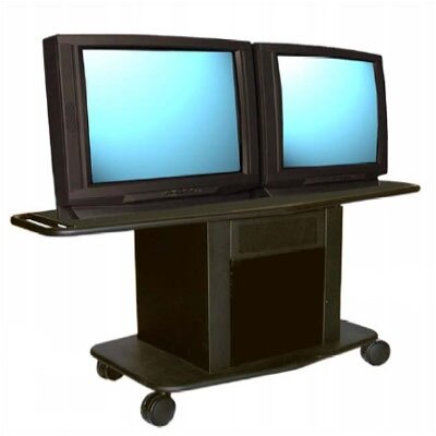 "Avteq Acero Series 32"" Tall Metal Cart - Holds up to two 32"" monitors"