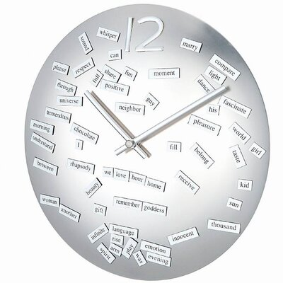 Control Brand Convex Love Poem Clock