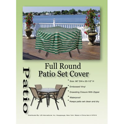 LB International Striped Patio Set Cover