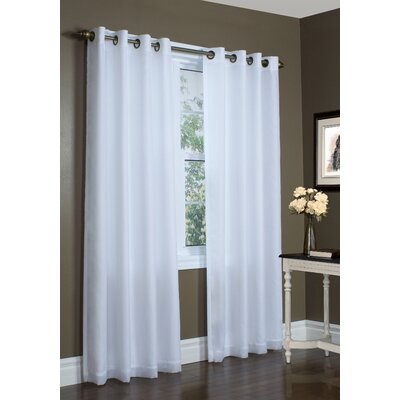 Thermalogic Thermavoile Lined Grommet Curtain Single Panel