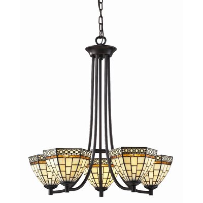 Z-Lite Prairie Garden 5 Light Chandelier in Chestnut Bronze