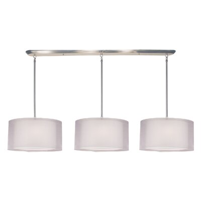 Z-Lite Nikko Island / Billiard Light with Organza Shade