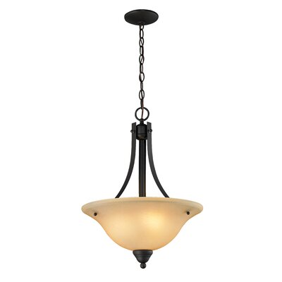 Z-Lite Athena 3 Light Bowl Pendant