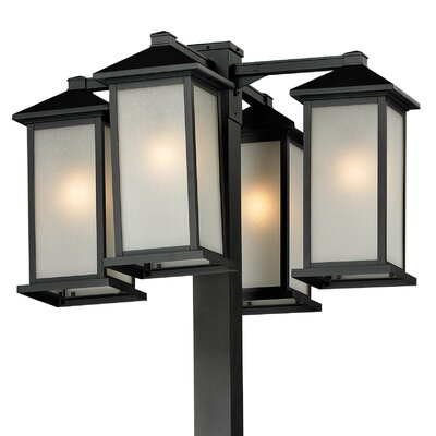 "Z-Lite Vienna 4 Light 116.25"" Outdoor Post Lantern Set"