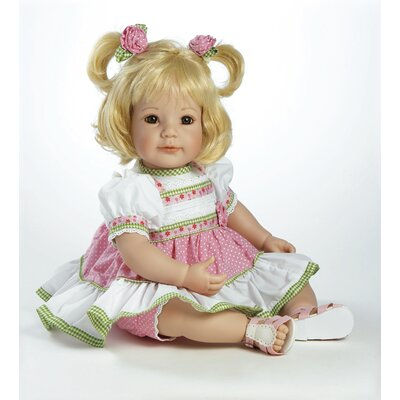 "Adora Dolls Baby Doll ""Polka Dot Rose"" Light Blonde Hair / Brown Eyes"
