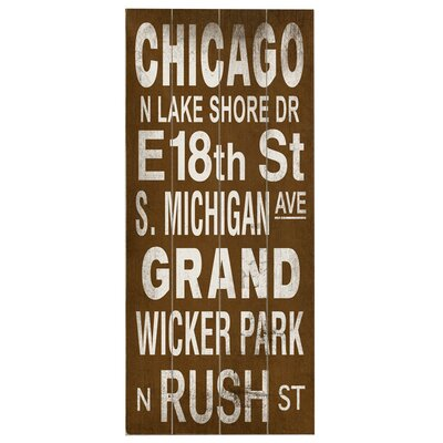 Artehouse LLC Chicago Transit Wood Sign