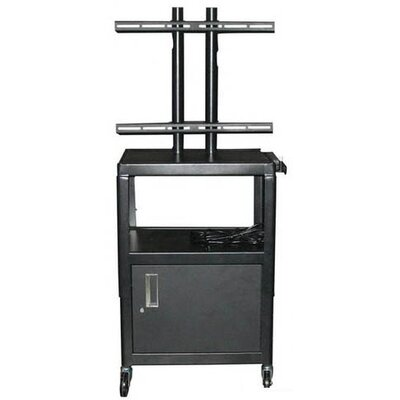 "Vutec 27 - 32"" Flat Panel Cart with Cabinet and 4 Outlets - 26"" - 42"" Adjustable  Height"