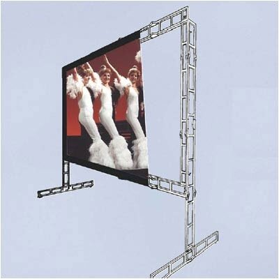 "Vutec Twin-Vu Porta-Fold Rear Projection Complete Screen Kit - 10' 6"" x 18' 6"" HDTV Format"