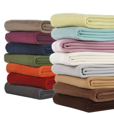 Bocasa Blankets Woven Microfiber Throw Blanket in Chocolate