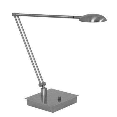 "Mondoluz Vital 16"" Table Lamp in Brushed Platinum"