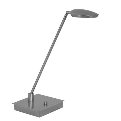 Mondoluz Pelle Table Lamp in Brushed Platinum