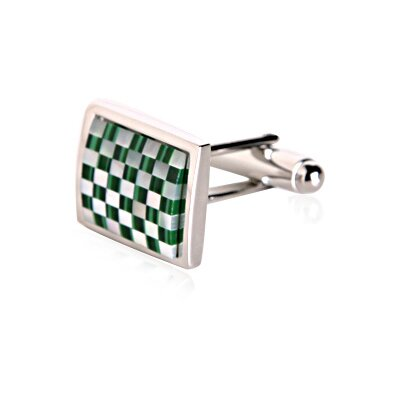 Cuff-Daddy Stunning Mother of Pearl and Malachite Cufflinks
