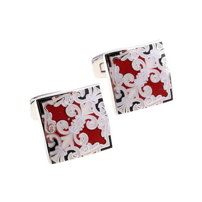 Cuff-Daddy Fleur di Lis Cufflinks in Red