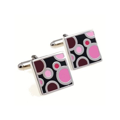 Cuff-Daddy Pink Bubble Cufflinks