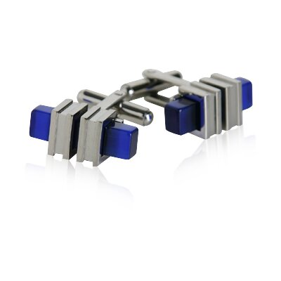 Cuff-Daddy Blue Bar Cufflinks