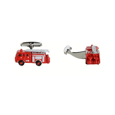 Cracked Pepper Fire Engine Fireman Cufflinks