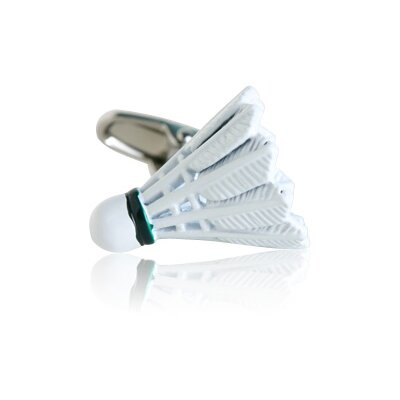Cracked Pepper Shuttlecock Badminton Cufflinks