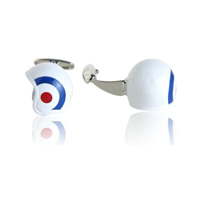 Cracked Pepper British Air Force Roundel Helmet Cufflinks