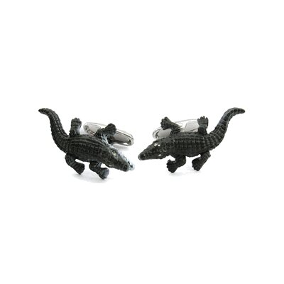Safari Cufflinks Alligator Cufflinks with Crystal Eyes