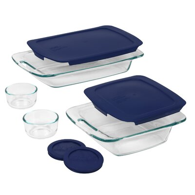 Easy Grab 8 Piece Bakeware Set with Plastic Cover