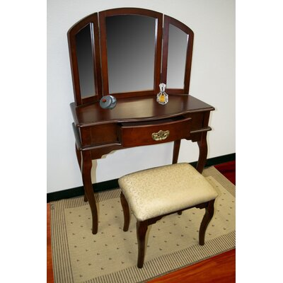 Williams Import Co. 3-Piece Vanity Set in Cherry