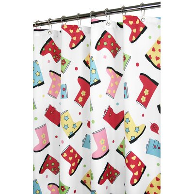 Watershed Favorite Boots Shower Curtain in Primary