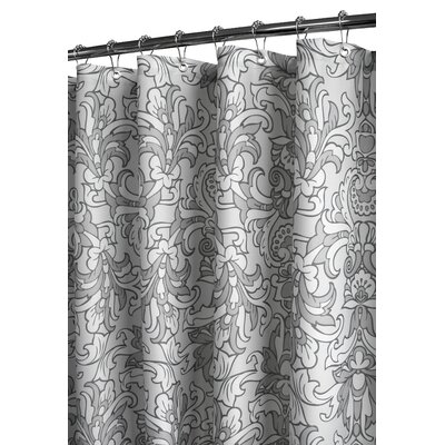 Watershed Rococo Scroll Shower Curtain in Antique Silver