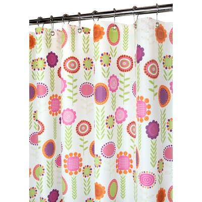 Prints Polyester Spring Meadow Shower Curtain