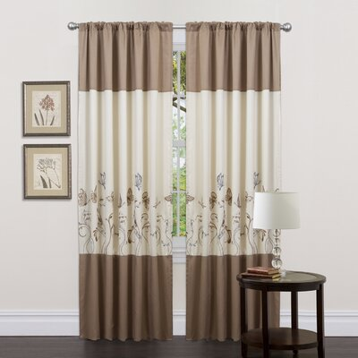 Special Edition by Lush Decor Butterfly Dreams Rod Pocket Curtain Panel Pair with Tiebacks