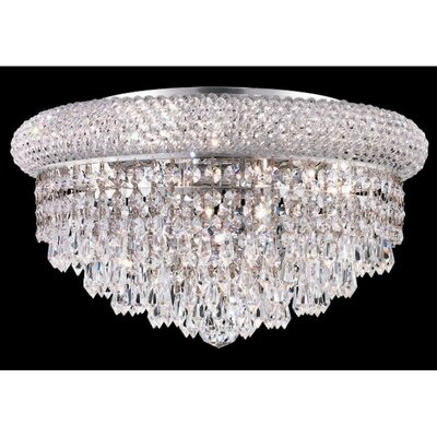 Elegant Lighting Primo 8 Light Flush Mount
