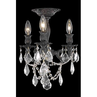 Elegant Lighting Rosalia 3 Light Chandelier