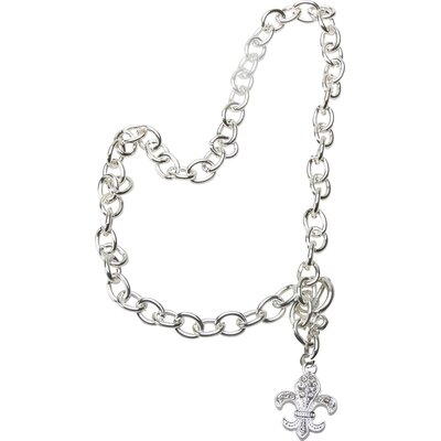 The Premium Connection Bret Roberts Fleur de Lys Crystal Pendant Necklace