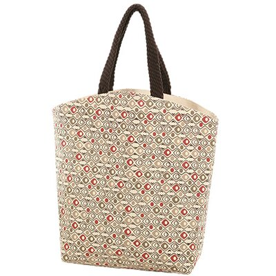 Jute Farm Natural Red Eye Canvas Carry Tote Bag