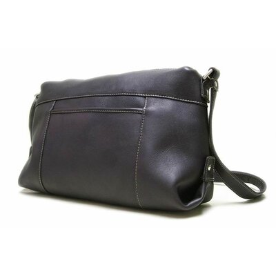 Le Donne Leather Top Zip Front Slip Shoulder Bag