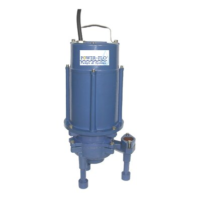 "Power-Flo Grinder 1-1/4"" Submersible Pump High Volume with Double Seal and Internal Capacitors"
