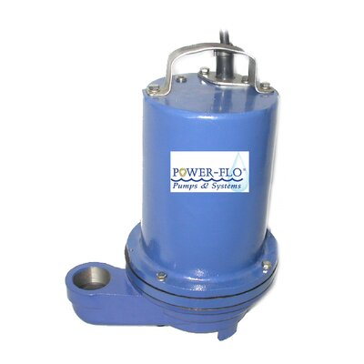 Power-Flo 1/2 HP Effluent Submersible Pump with 7 Amps Manual Operation