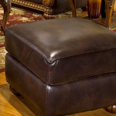 Newport Upholstery Heritage Blended Leather Cocktail Ottoman