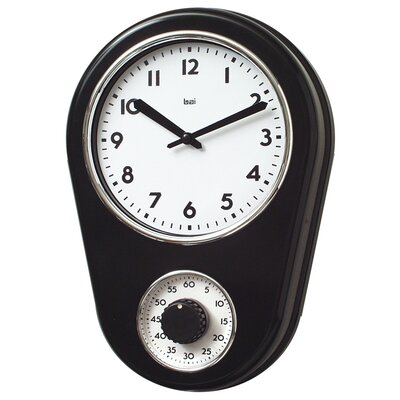 Bai Design 8 5 Kitchen Timer Retro Modern Wall Clock