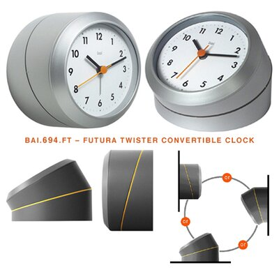 Bai Design Twister Desk / Wall Clock Logic