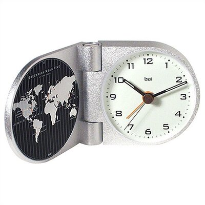 Bai Design World Trotter Modern Travel Alarm Clock in Gotham White